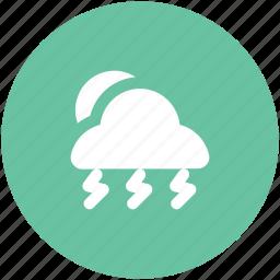 cloudy, pronostic, raining, sunrise, sunset, thunderstorm, weather, winter icon
