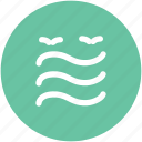 birds, lake, moisture, river, sea, tide, water, water waves icon