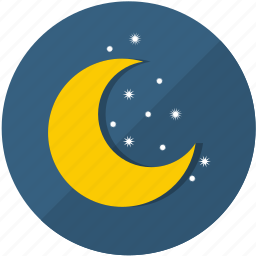 cold, frost, meteorology, moon, night, season, snow icon