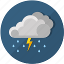 clouds, forecast, lightning, rain, rainy, storm, thunderstorm icon