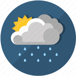 clouds, meteorology, rain, sun, suncloud, sunny, weather icon