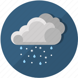 clouds, meteorology, rain, rainy, snow, weather, winter icon