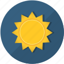 clear, heat, hot weather, meteorology, season, summer, sun, sunrise, temperature, weather icon