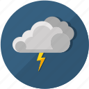 clouds, forecast, lightning, meteorology, storm, thunderstorm, weather icon