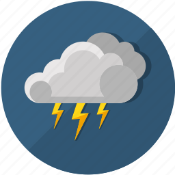 cloud, cloudy, forecast, lightning, meteorology, storm, thunderstorm icon