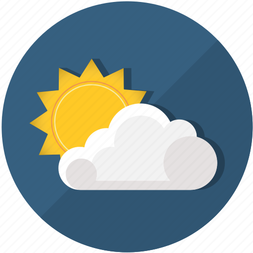 cloud, cloudy, meteorology, sun, sunny, sunrise, sunset icon