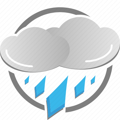 cloud, cloudy, rain, rainy, thunderstorm, weather icon, wet icon
