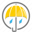 rain, rainy, umbrella, weather icon icon