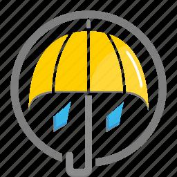 rain, rainy, umbrella, weather icon icon