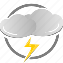 flash, lightning, thunder, weather icon icon