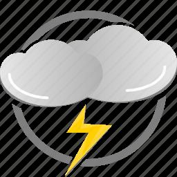 flash, lightning, thunder, weather icon icon