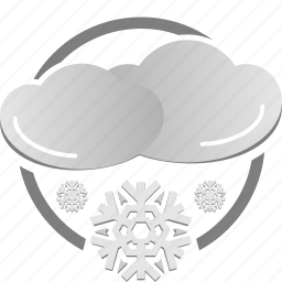 cloud, cold, snow, snowy, weather icon, winter icon