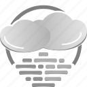 cloud, cloudy, fog, weather icon icon
