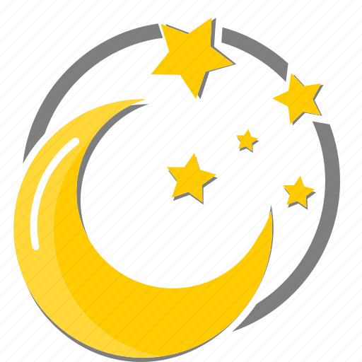 clear, moon, star, weather icon icon