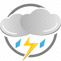 flash, lightning, rain, rainy, thunderstorm, weather icon icon