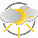 cloud, cloudy, partly cloudy, sun, sunny, weather icon icon