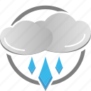 cloud, rain, rainy, weather icon, wet icon