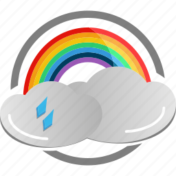 cloud, colored, rainbow, weather icon icon