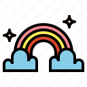 rainbow, spectrum, nature icon