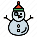 snowman, weather, snow icon