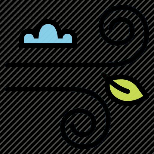 meteorology, wind, windy icon