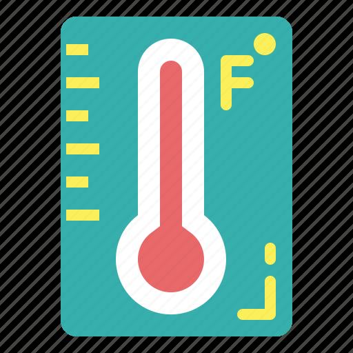 farenheit, temperature, thermometer icon