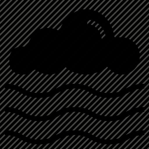 fog, mist, weather icon