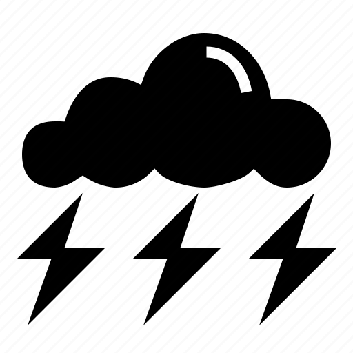 rain, storm, thunder icon