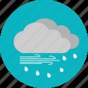 daylight, heavy rain, rain, weather icon