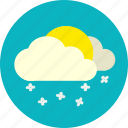snow, snowfall, weather, winter icon