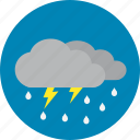 night, rain, thunder, thunderstorm icon
