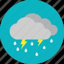daylight, heavy rain, thunderstrorm, weather icon
