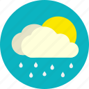 daylight, rain, weather icon