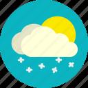 daylight, snowfall, snowy, weather icon