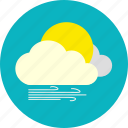 cloud, daylight, gale, weather icon