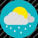 cloudy, daylight, rain, whether icon