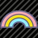 colorful, rainbow, weather icon