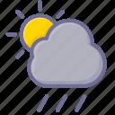 cloudy, rain, sun icon