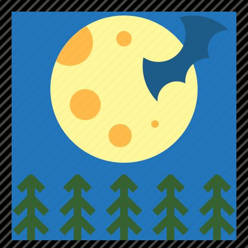 astronomy, full, meteorology, moon, phase icon