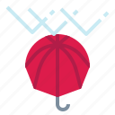 protect, raindrops, rainy, umbrella, winter icon