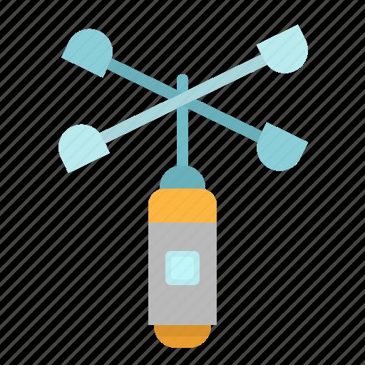 anemometer, meter, speed, wind icon