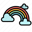 cloud, rainbow, spectrum, sun, weather icon