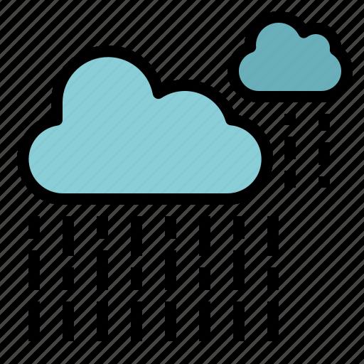 heavy, rain, rainy, shower, strong icon