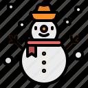 christmas, cold, snow, snowman, winter
