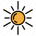cute, meteorology, summer, summertime, sun, sunny, warm, weather icon