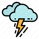 bolt, cloud, rain, storm, thunder icon