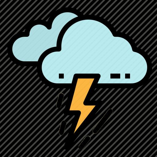 bolt, cloud, rain, storm, thunder icon