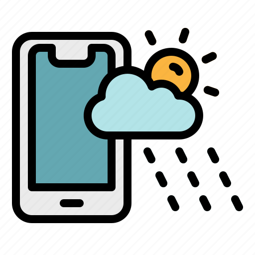 app, application, mobile, phone, weather icon