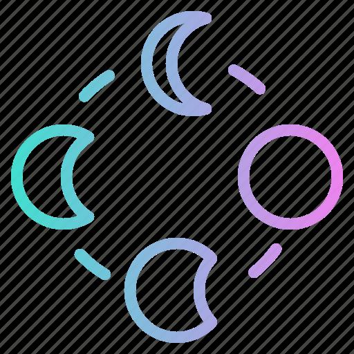 Half, moon, night, stars, weather icon - Download on Iconfinder