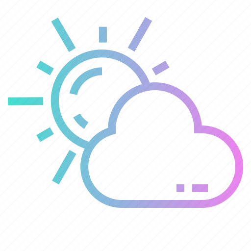Clond, cloudy, sun, sunny, weather icon - Download on Iconfinder